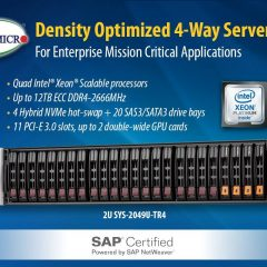 New SAP Certified 2U Density Optimized Super Server