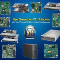 New X11 Solutions based on  E3-1200 v5 (Skylake) Family