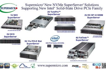 New NVMe Server Solutions for New Intel® Solid-State Drive PCIe Family