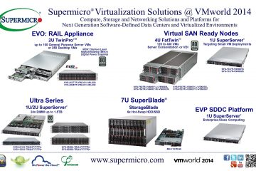 2U VMware EVO: RAIL™, Ultra Series and SuperBlade Virtualization Solutions from Supermicro